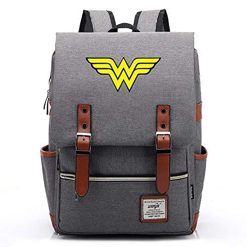 Lo zaino Wonder Woman, lo zaino all'aperto dell'Oxford College School, si adatta al tablet portatile da 15'', 14 pollici. 03 Premere l'immagine della scheda a colori.