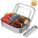 M8C Brotdose Edelstahl, Lunchbox Auslaufsicher mit Herausnehmbarer Trennwand, Eco Brotdose für...