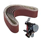 UIEMMY papel de lija 10 unids/set bandas de lijado abrasivas banda 40-1000 granos lijadoras de madera herramientas de óxido de aluminio 50x686mm, 40 60 80120240