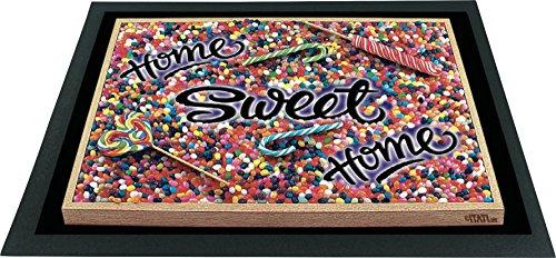 ITATI-Textilien Felpudo Felpudo 3d diseño Home Sweet Home = = limpiabarros