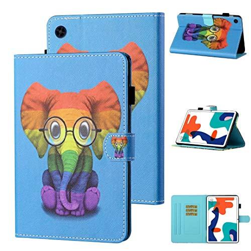 Hülle für iPad 9.7 2018 2017 / iPad Air 2 / iPad Air- [Eckenschutz] Slim Fit Folio Sotff Schutzhülle Case mit Ständer und Auto Schlaf/Wach Funktion, Elefant