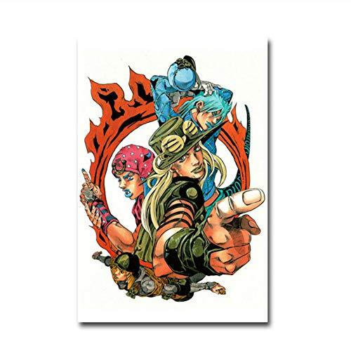 nr Leinwand Malerei Nordischen Stil Wandkunst Poster Japan Anime JoJo S Bizarre Abenteuer Action-Bilder Dekoration Prints-50x70cm Kein Rahmen