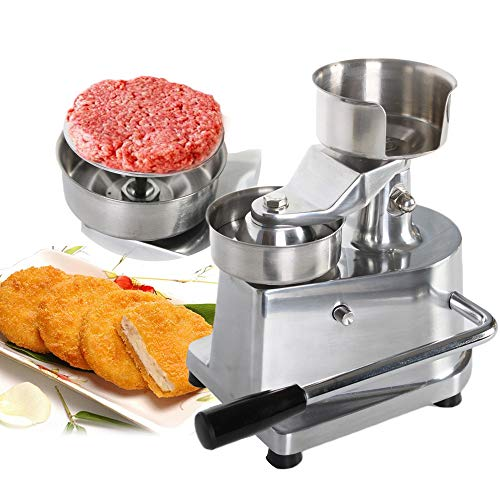NBLYW Commercial Hamburger Press Patty Maker with Handle,130mm Diameter Round Meat Shaping Aluminum Machine for BBQ, Grill, Bread and Cheese