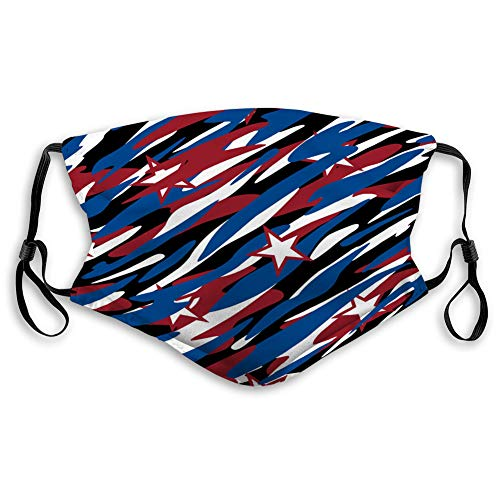 Best Deals! Xunulyn Shield Unisex Mouth Belt Patriotic Camouflage Abstract Seamless Pattern Face Shi...