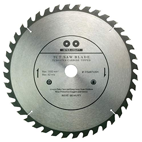 Inter-Craft 315mm Sägeblatt Top Qualität Kreissägeblatt für Holz 315 x 32-25 mm 40 Zähne