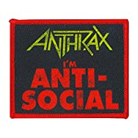 C&D Visionary Anthrax I'm Anti Social Patch, Multi Color