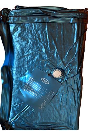 WABEZU Einzelner Dual Wasserkern Wasserbettmatratze 90x220 cm für 180x220 cm Softside Wasserbett (F4 90% Beruhigung)