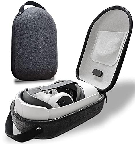 Estuche para Oculus Quest 2, Funda Protectora para Oculus Quest 2 All-in-One VR Gaming Headset, Almacenamiento de Visor Juego VR y Controladores Accesorios para Oculus Quest 2 Funda - Negro