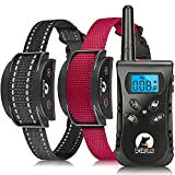 Paipaitek Vibrating Dog Collar, No Shock Dog Training Collar 2 Dogs, Deaf Dog Collars w/2 Receivers, Rechargeable & Waterproof, Up to 1600Ft Remote Range