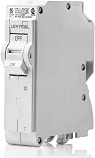 Leviton LB120-T 20 Amp, 1-Pole Plug-on Standard Branch Circuit Breaker, 120/240 VAC, White