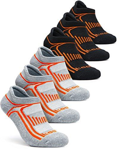 TSLA Men's 6-Pairs Athletic No Show Shock Grip Socks...