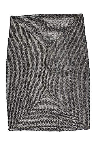House Doctor Teppich Struktur, schwarz, 130 x 85 cm