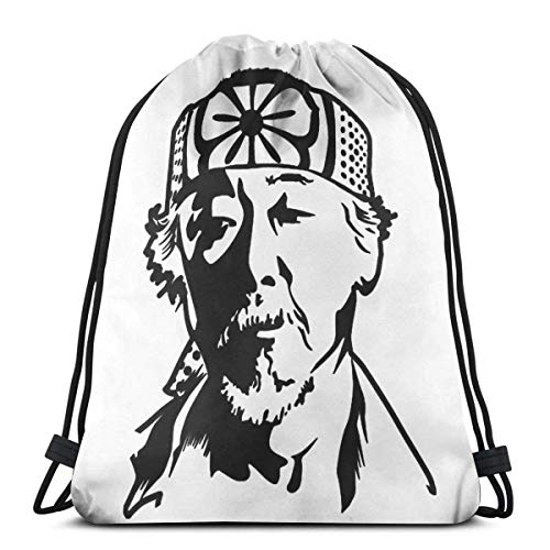Cobra Kai Karate Kid Mr Miyagi Drawstring Bags Gym Bag