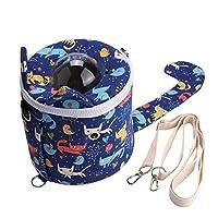 ペットショルダーバッグ、耐摩耗性ペットカプセルバッグ、リスに便利な軽量小型ペットチンチラハムスター(blue)