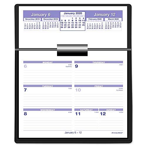 AT-A-GLANCE 2020 Weekly Desk Calendar Refill, 5-5/8