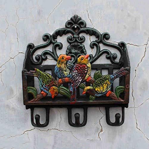 CSH Vivid 4 vogels vorm gietijzeren letter invoegen tijdschrift invoegen boek invoegen puin opslag smeedijzeren haak tuin decoraties Retro Syle