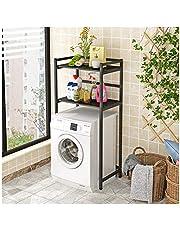 Plank Drum Wasmachine Plank Badkamer Toilet Plank Balkon Rack Vloer Opslag Wasmachine Rack Zwart 40 * 70 * 150CM zwart1