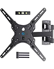 Full Motion TV Wall Mount for Most 26-55 Inch LED LCD Flat Curved Screen TVS & Monitors, Pipishell Articulating Arms Swivel Tilt Extension Fits for Single Studs Corner, Max VESA 400X400mm Up to 88lbs