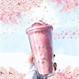 PMCDS2G Tumbler with Lid and Straw Insulated Double Wall Reusable Leakproof 16oz Travel Tumbler Cup BPA Free - Pink