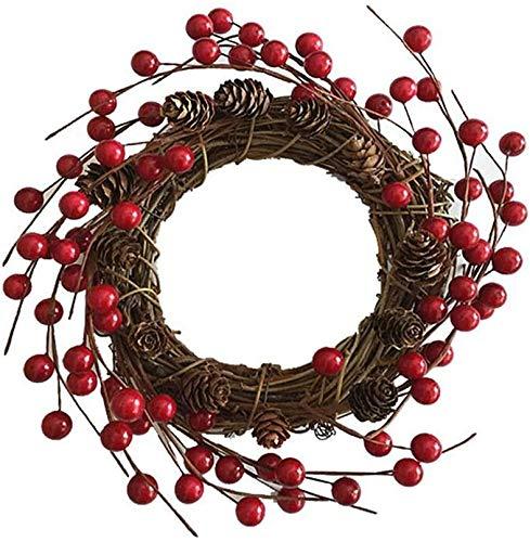 DINEGG Künstliche Roote Bier Dekorative Beeren Weihnachtskranz Zubehör Weihnachten Haustüre Dekoration Neu QQQNE