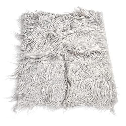 Alfombra peluda de abrigo largo ondulado, suave y cómodo abrigo para recién nacidos para bebés para un accesorio de fotografía