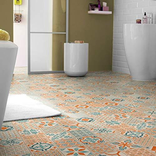 Klick Vinyl Tarkett Starfloor Click 30 Retro Orange Blue (28,95 € p. m²) (Muster DIN A4)