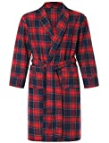 Latuza Men's Cotton Flannel Robe XXXX-L Red