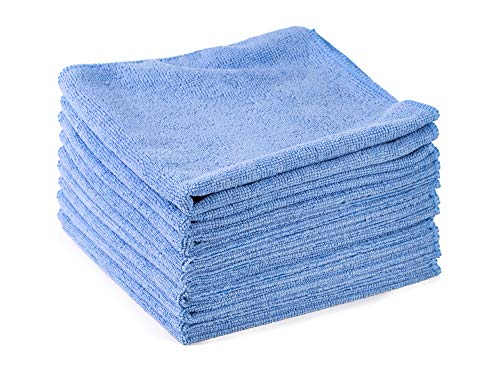 10x Microfasertuch im Sparpack hellblau Putztuch Reinigungstuch Poliertuch Autopflege waschbar 40x40 cm by kör4u