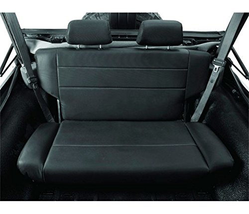 Bestop 3944001 Black Crush Trailmax II Rear Fold-N-Tumble Rear Seat - Jeep 1955-1995 CJ5, CJ7 & Wrangler