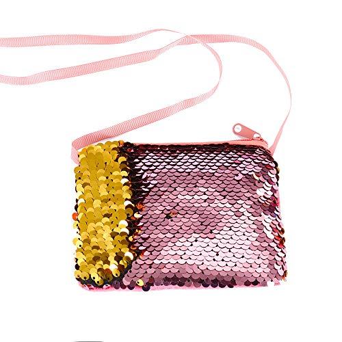 Little Story Women Girls Fashion Double Color Sequins Bag Storage Bag Ladies Purse Pouch