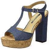 Mariamare Mareta, Sandalias con Tira a T para Mujer, Azul (Denim Azul), 36 EU