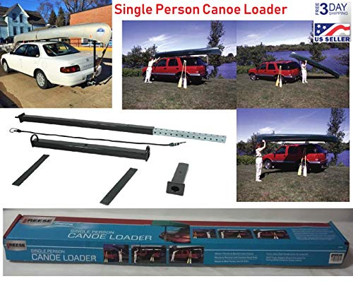 Kayak Canoe Loader Car Top Truck Roller Rack Roof Hitch Single Person Mount SUV