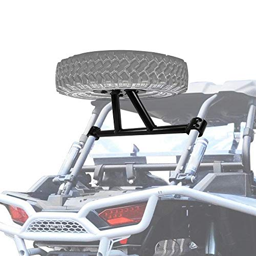 RANSOTO New Designed Spare Tire Carrier Compatible with 2014-2020 Polaris RZR XP Turbo 1000 Spare Tire Rack