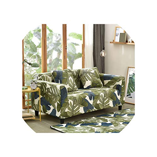 DAWN&ROSE Tropical Style Universal Stretch Sofa Covers Living Room Sectional Couch Slipcover Elastic Sofa Cover 1/2/3/4 Seat Summer,5,A-B 145-190cm