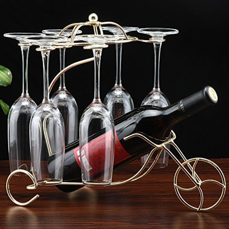 Red Wine Shelf Old Chariot Bicycle Wine Rack European Retro Elegant Wine Rack Wine Rack Preservative, gold (color   gold)