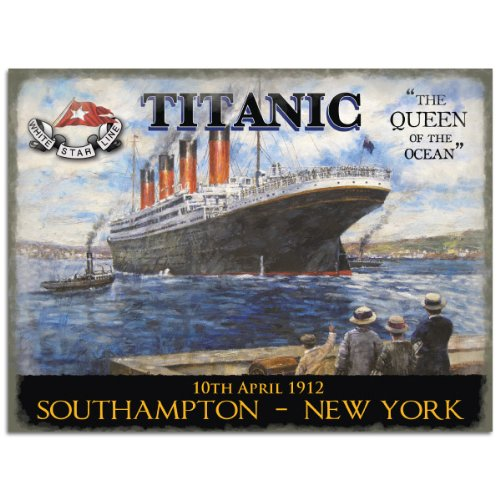 The Original Titanic Poster The Queen of The Ocean, Large 400mm X 300mm