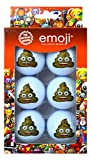 Emoji Unisexe Lot de 6 balles de Golf de déjections Canines Fantaisie, Multicolore