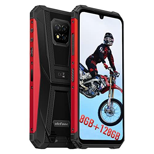 Téléphone Portable Incassable Débloqué, 128Go + 8Go, Android 11 Smartphone Incassable 16MP Arrière Caméra, Helio P60 Octa-Core, HD 6,1 Pouces, Ulefone Armor 8 Pro, 4G, Batterie 5580mAh NFC Type-C