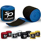 Starpro Boxing Hand Wraps MMA Inner Gloves Fist Protector Bandages (Blue, 140)