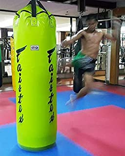 Fairtex Genuine Muay Thai Kick Boxing K1 MMA 7ft Pole Heavy Bag HB7 UnFilled (Green Color)