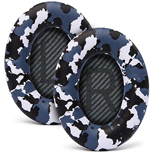 WC Premium Replacement Ear Pads for Bose Headphones Made by Wicked Cushions - Compatible with QC35 & 35ii / QC25 / QC15 - Cloud Like Comfort & Enhanced Durability | Snow Camo