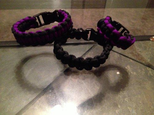 "Fury Military Survival Paracord Bracelet (8"", Black)"