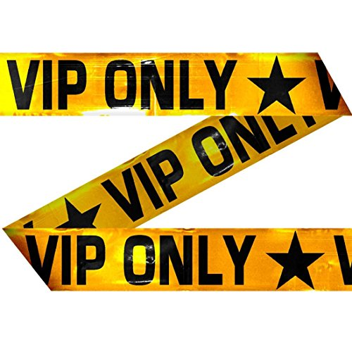 NET TOYS VIP only Absperrband 15 m Party Flatterband Partyband Foliensperrband Begrenzungsband Sperrband VIPParty Band Absperrung