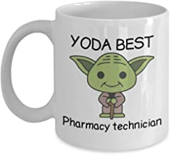 Yoda Best Pharmacy technician - Novelty Gift Mugs for Star Wars Fans - Co-Workers Birthday Present, Anniversary, Valentines, Special Occasion, Dads, Moms, Family, Christmas - 15oz Funny Coffee Mug