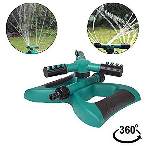 SJTL Automatique Arroseur de Jardin Darrosage Rotatif avec 3 Têtes 360 Degrées Arrosage Irrigation pour Gazon Pelouse Jardin Facile de Raccordements de Tuyaux