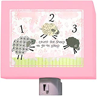 Oopsy Daisy Counting Sheep Night Light, Pink, 5