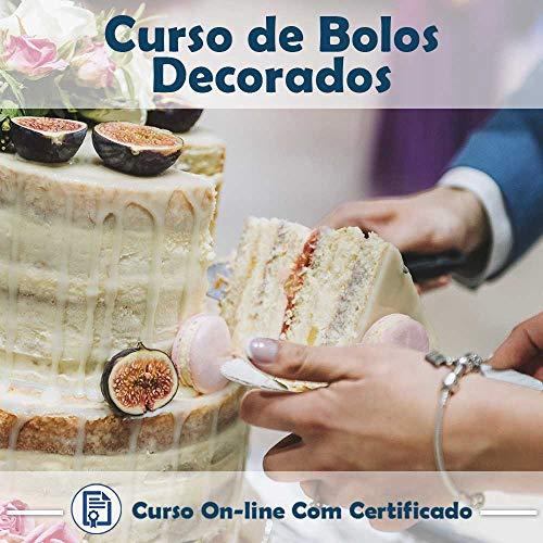 Curso online em videoaula de Bolos Decorados com Certificado + 2 brindes