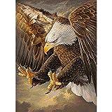 Greatmin Kit de pintura de diamantes 5D para adultos y principiantes, bordado, artesanía, águila, 11...