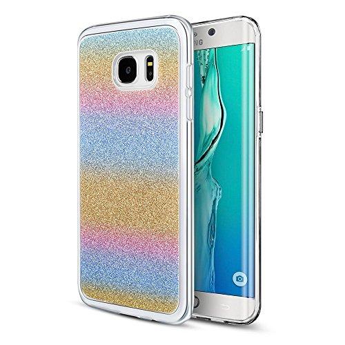 Custodia S7, cristallo chiaro] PC pannello disk TPU paraurti Slim Anti graffi-Cover di protezione, resistente, per Samsung Galaxy, S7