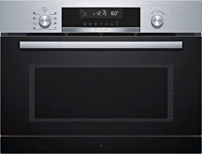 Bosch Serie 6 Microondas Integrado, 36 L, 1000 W, Giratorio, Tocar, 36 litros, Acero inoxidable